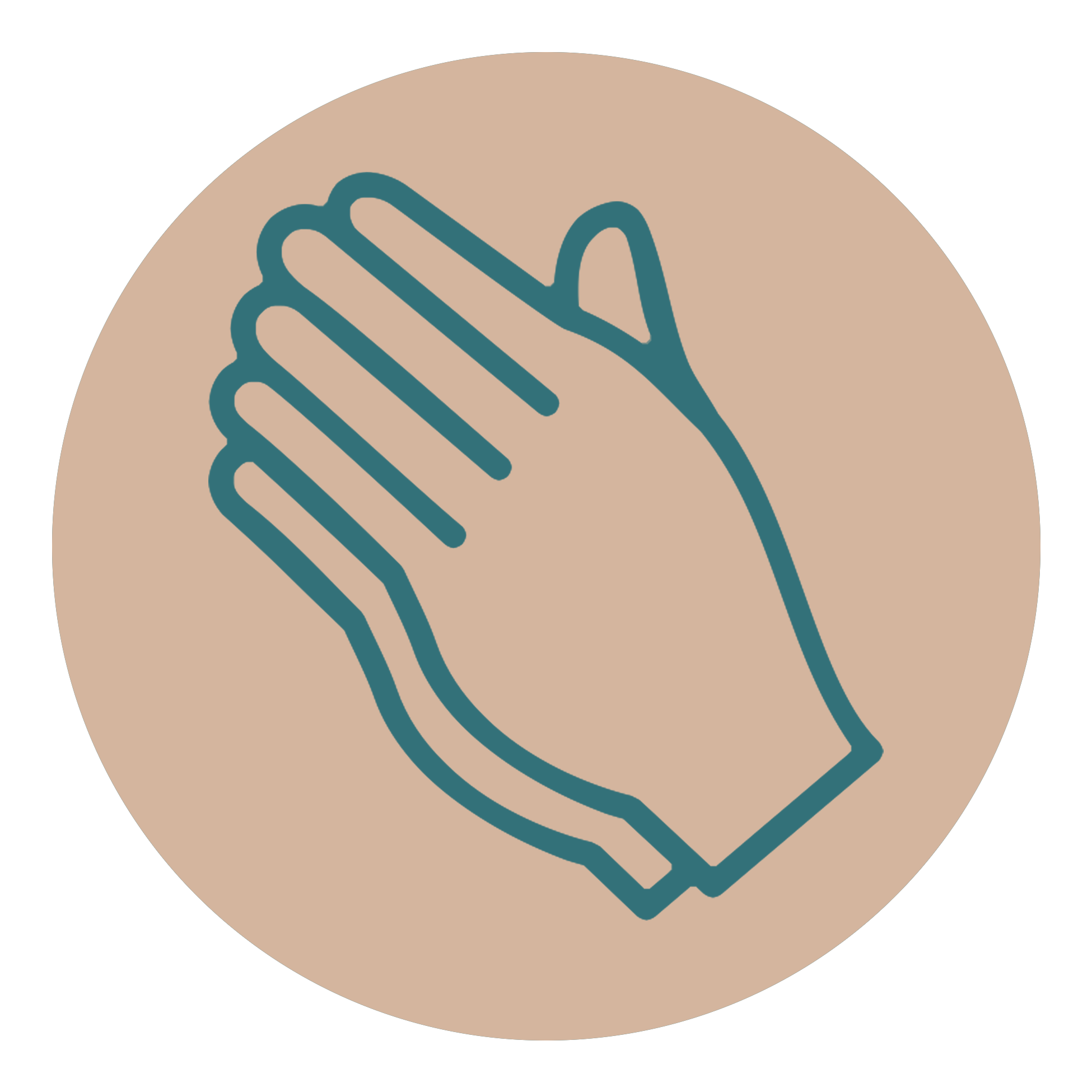 Pray Icon Tan